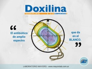 Doxilina antibiotico del Laboratorio Mayors