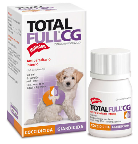 Total Full CG antiparasitario interno suspension para perros y cachorros