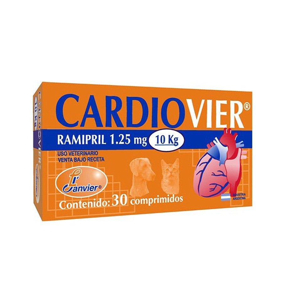 Cardiovier comprimidos con Ramipril 1.25 mg. y 2.5 mg. caninos y felinos
