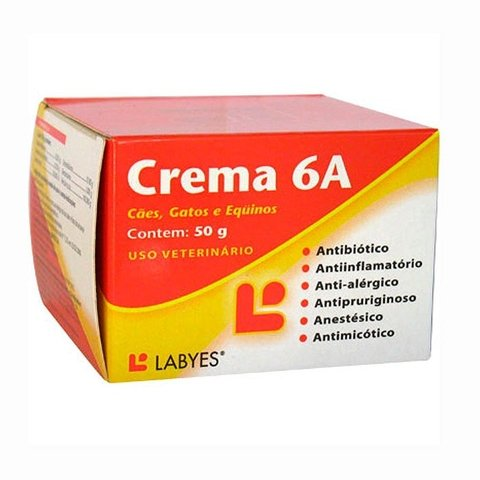 Crema 6 A - antibiotica - antiinflamatoria - antialergica - antimicotica