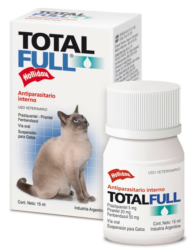 Total Full gatos - Antiparasitario Interno Palatable en comprimidos y suspension