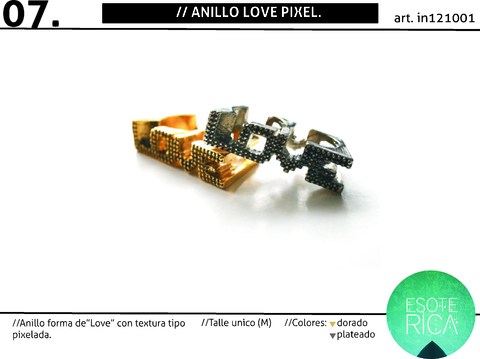 Anillo Love Pixel SALE!
