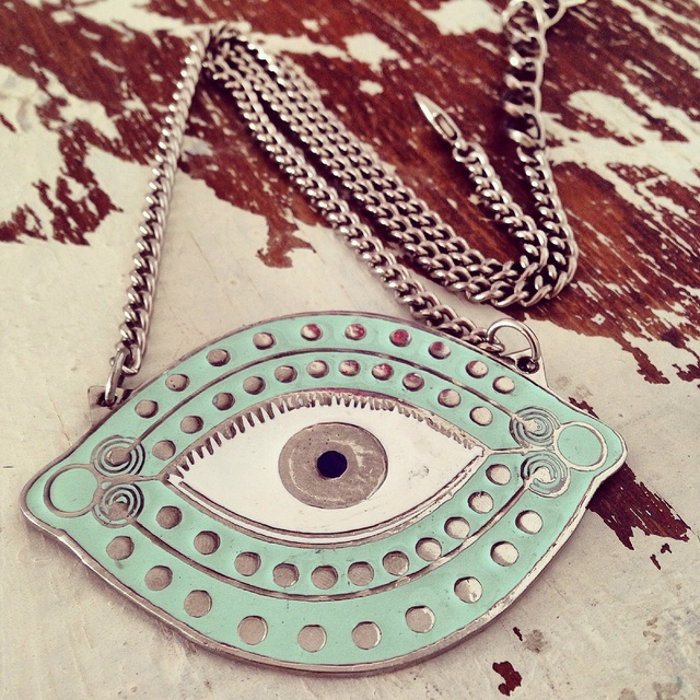 Collar OJO XL AQUA