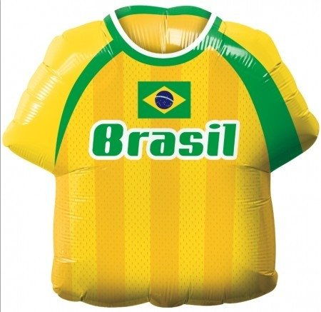"""Camisa do Brasil - Balão Metalizado - 22"""" - 55 cm - Marca Qualatex"""