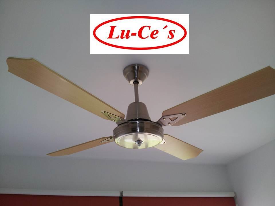Ventilador de techo platil o dorado con palas de madera 10 - Ventilador techo silencioso ...