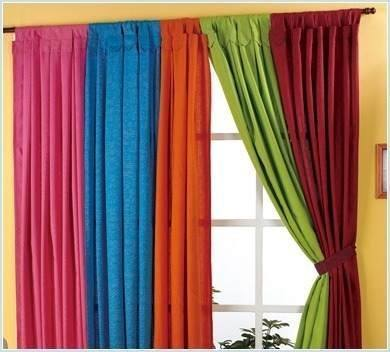 Tela tropical mecanico ancho varios colores x rollo for Color de cortina con pared blanca