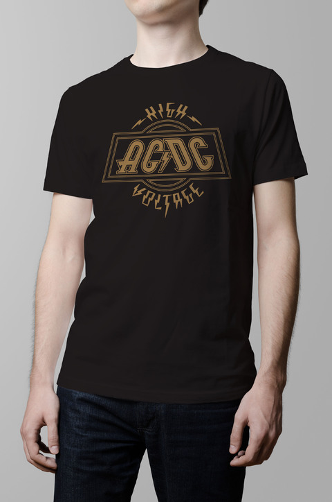 Remera Ac Dc high voltage negro hombre