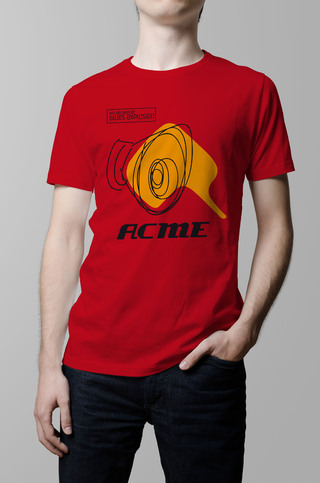 Remera Jon Spencer Blues Explosion roja hombre