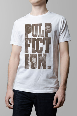 Remera Pul Fiction pelicula blanco hombre