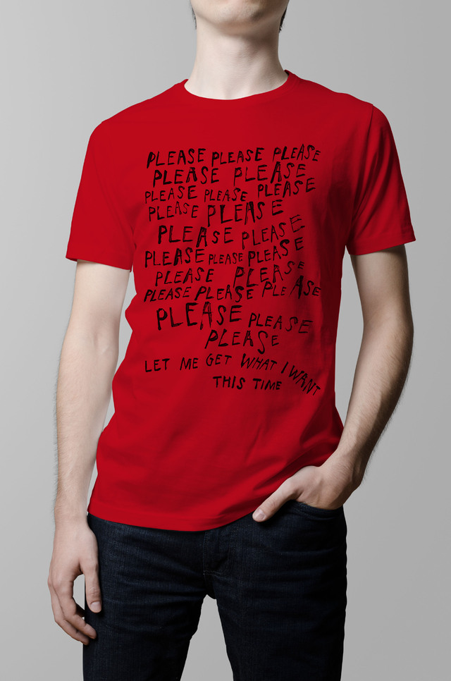 Remera The Smiths let me get what i want roja hombre
