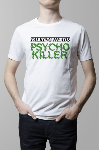 Remera Talking Heads Psycho Killer blanca hombre