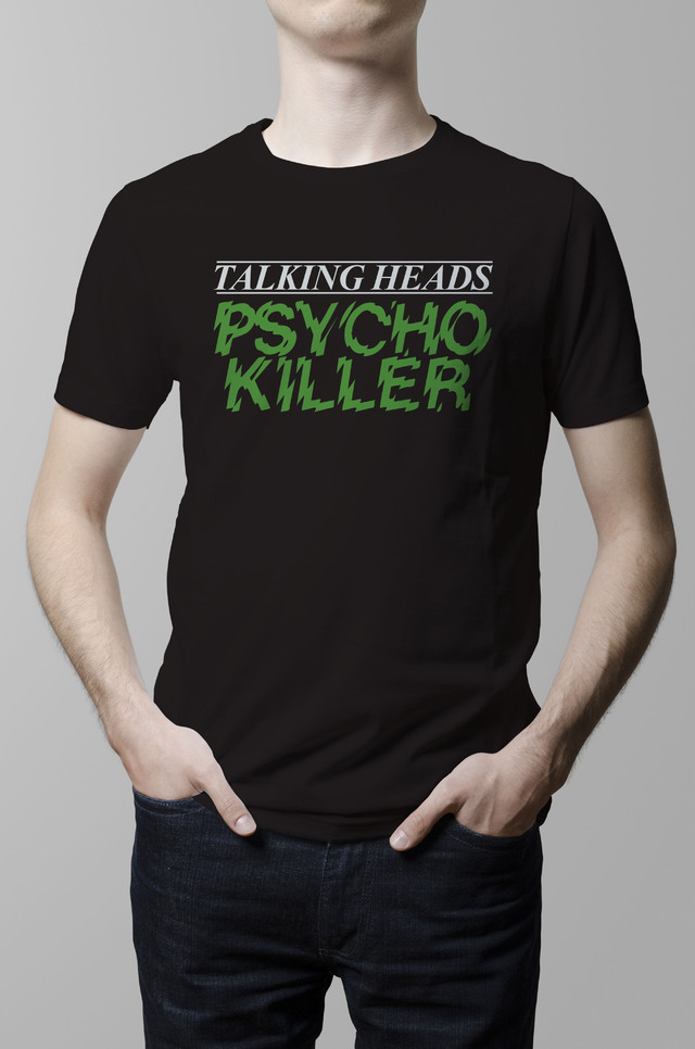 Remera Talking Heads Psycho Killer negra hombre