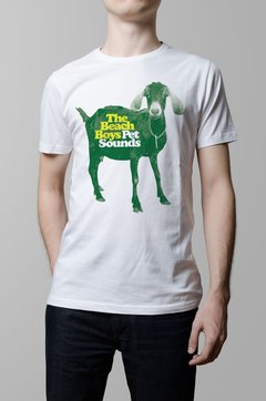 Remera Beach Boys pet sounds blanca hombre