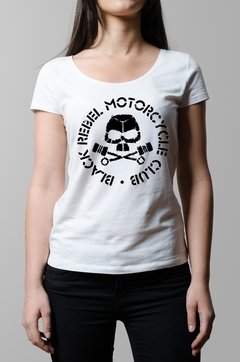 Remera Black Rebel Motorcycle Club blanca mujer