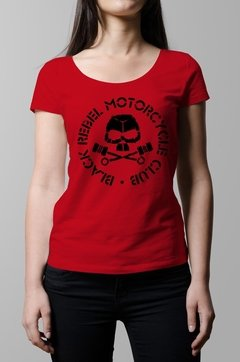 Remera Black Rebel Motorcycle Club roja mujer