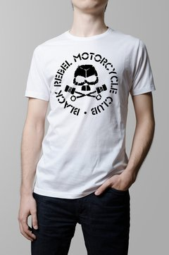 Remera Black Rebel Motorcycle Club blanca hombre