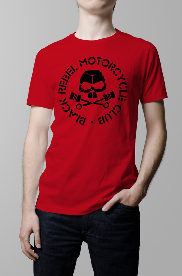 Remera Black Rebel Motorcycle Club roja hombre
