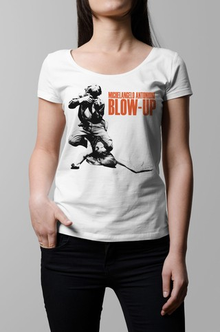 Remera Blow up blanca mujer