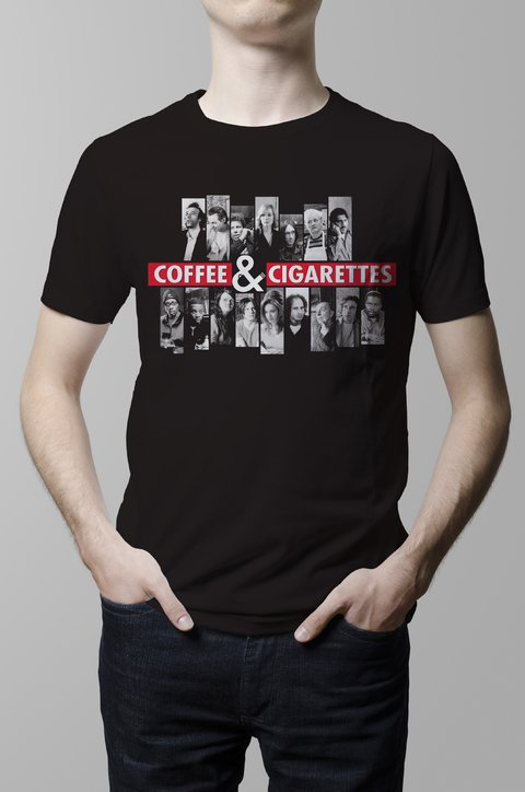 Remera Coffee and Cigarettes pelicula hombre