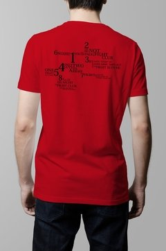 Remera Fight Club reglas hombre