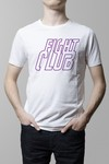 Remera Fight Club pelicula blanca hombre