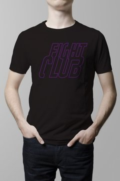 Remera Fight Club pelicula negra hombre