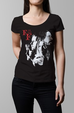 Remera Foo Fighters negra mujer