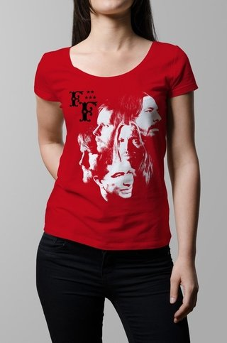 Remera Foo Fighters roja mujer