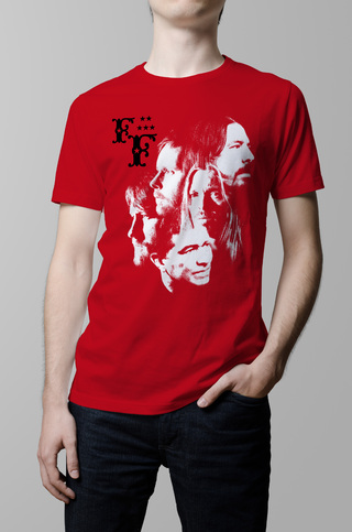 Remera Foo Fighters roja hombre