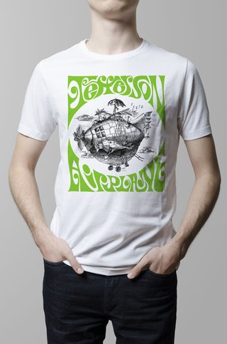 Remera Jefferson Airplane blanca hombre