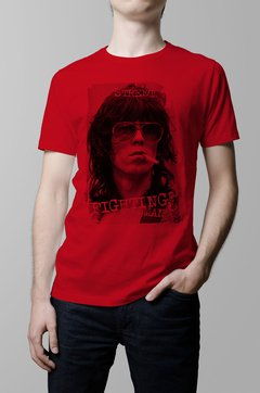 Remera Keith Richards roja hombre