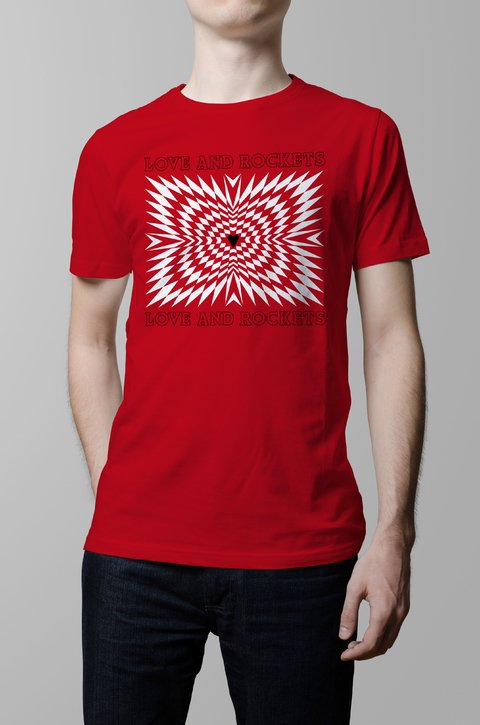 Remera Love and Rockets rojo hombre