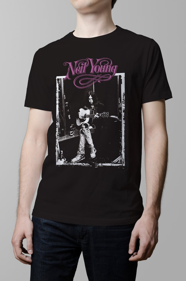 Remera Neil Young hombre