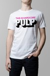 Remera blanca Pulp this is hardcore hombre