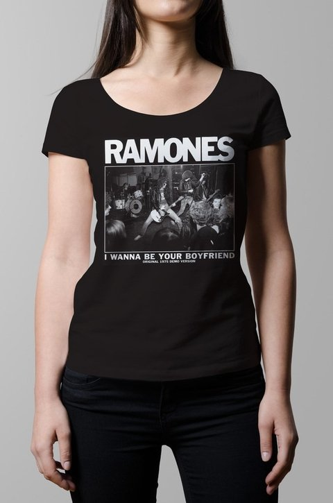 Remera Ramones i wanna be your boyfriend mujer
