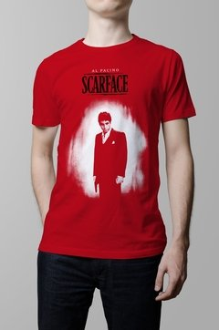 Remera roja Scarface hombre