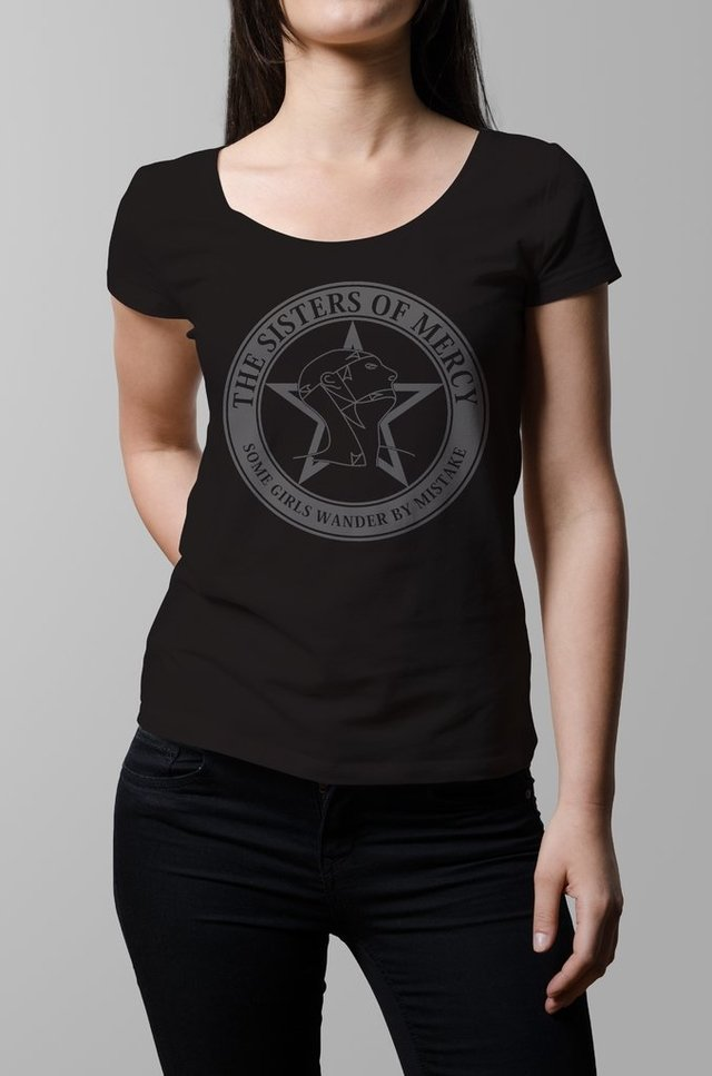 Remera negra Sisters of Mercy mujer