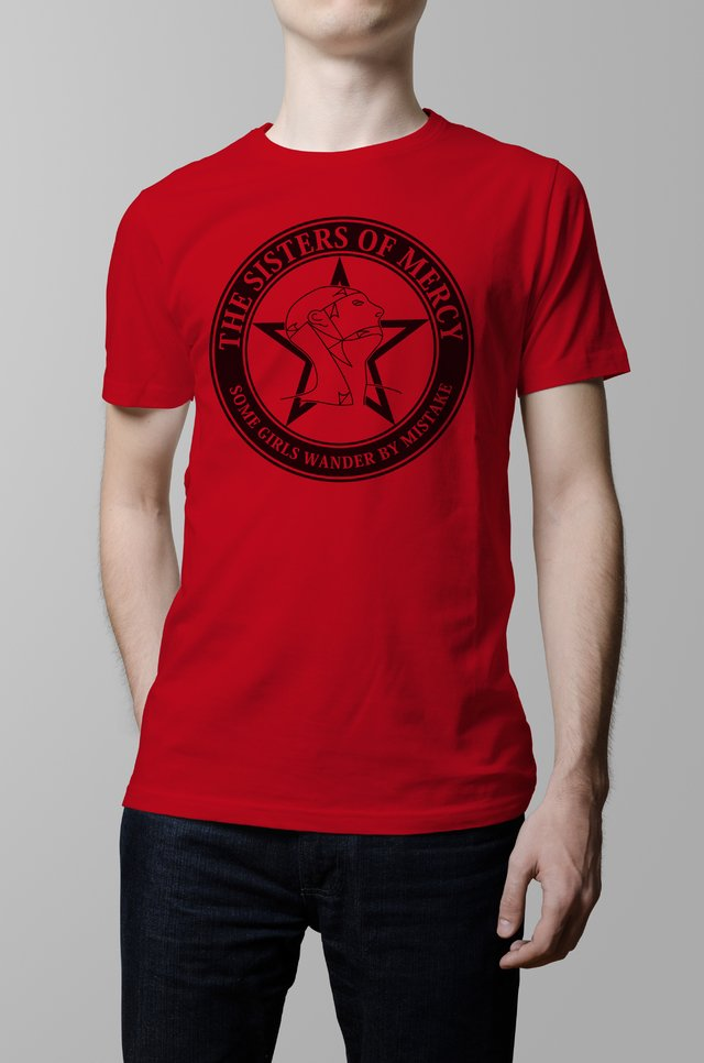 Remera roja Sisters of Mercy hombre