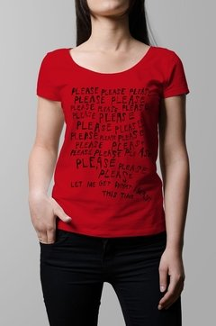 Remera The Smiths let me get what i want roja mujer