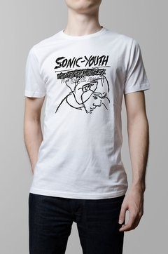 Remera Sonic Youth confusion is sex blanca hombre