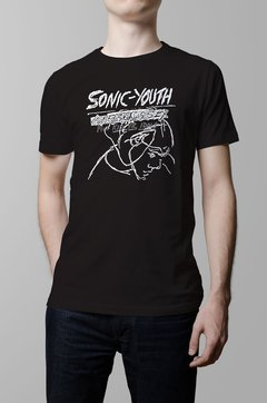 Remera Sonic Youth confusion is sex negra hombre