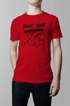 Remera Sonic Youth confusion is sex roja hombre