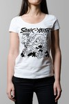 Remera Sonic Youth teenage riot blanca mujer