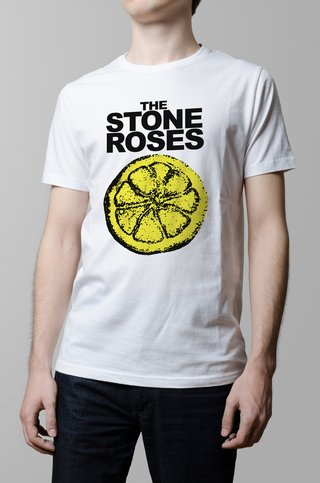 Remera Stone Roses blanca hombre