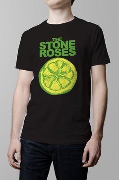 Remera Stone Roses negra hombre