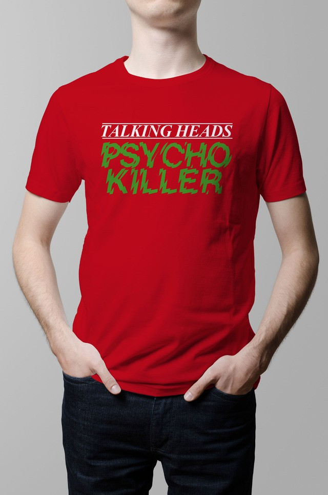 Remera Talking Heads Psycho Killer roja hombre