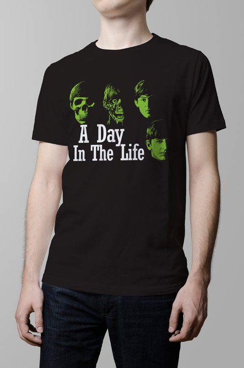 Remera The Beatles a day in the life hombre
