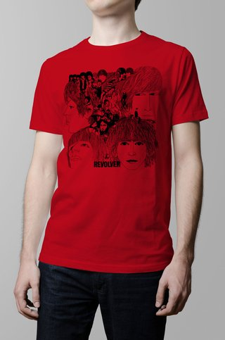 Remera The Beatles Revolver roja hombre