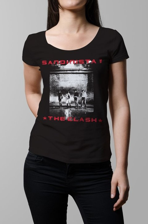 Remera The Clash Sandinista mujer