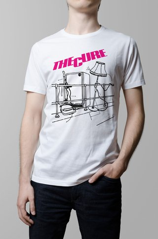 Remera The Cure Pill box tales blanca hombre